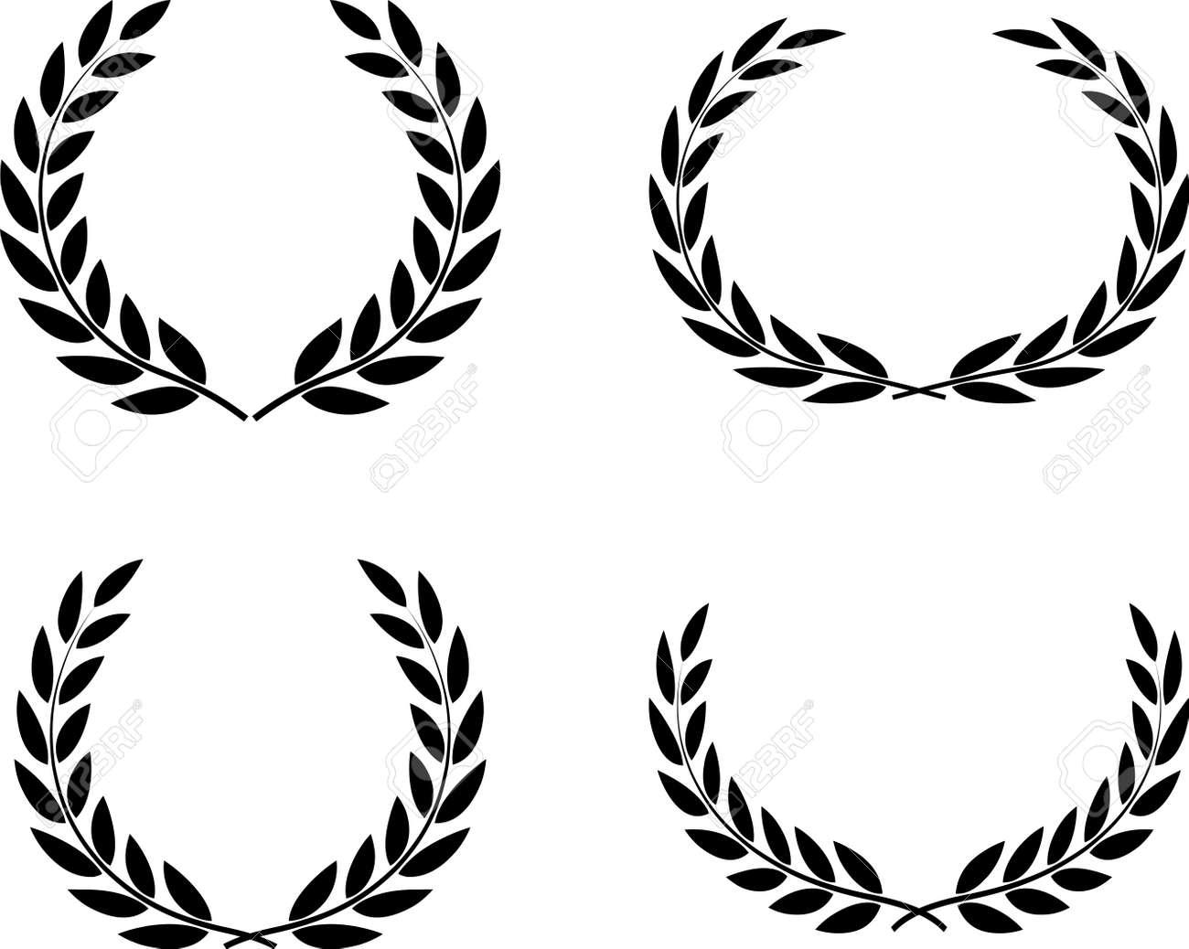 Laurel wreaths set vector isolated - 52870145