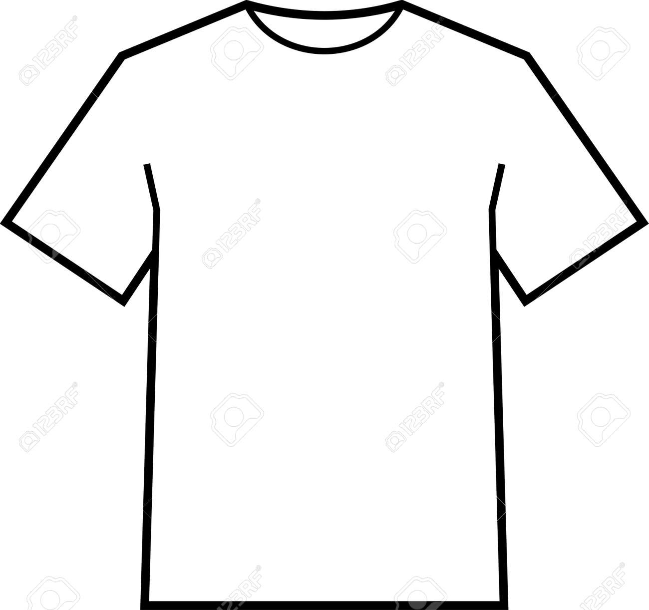 Blank T Shirt Template Vector Stock