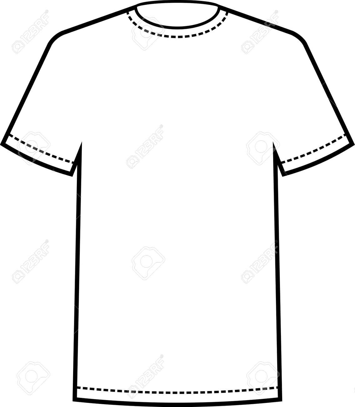 Leere Weiße T-Shirt-Vorlage Vektor Lizenzfrei Nutzbare ...