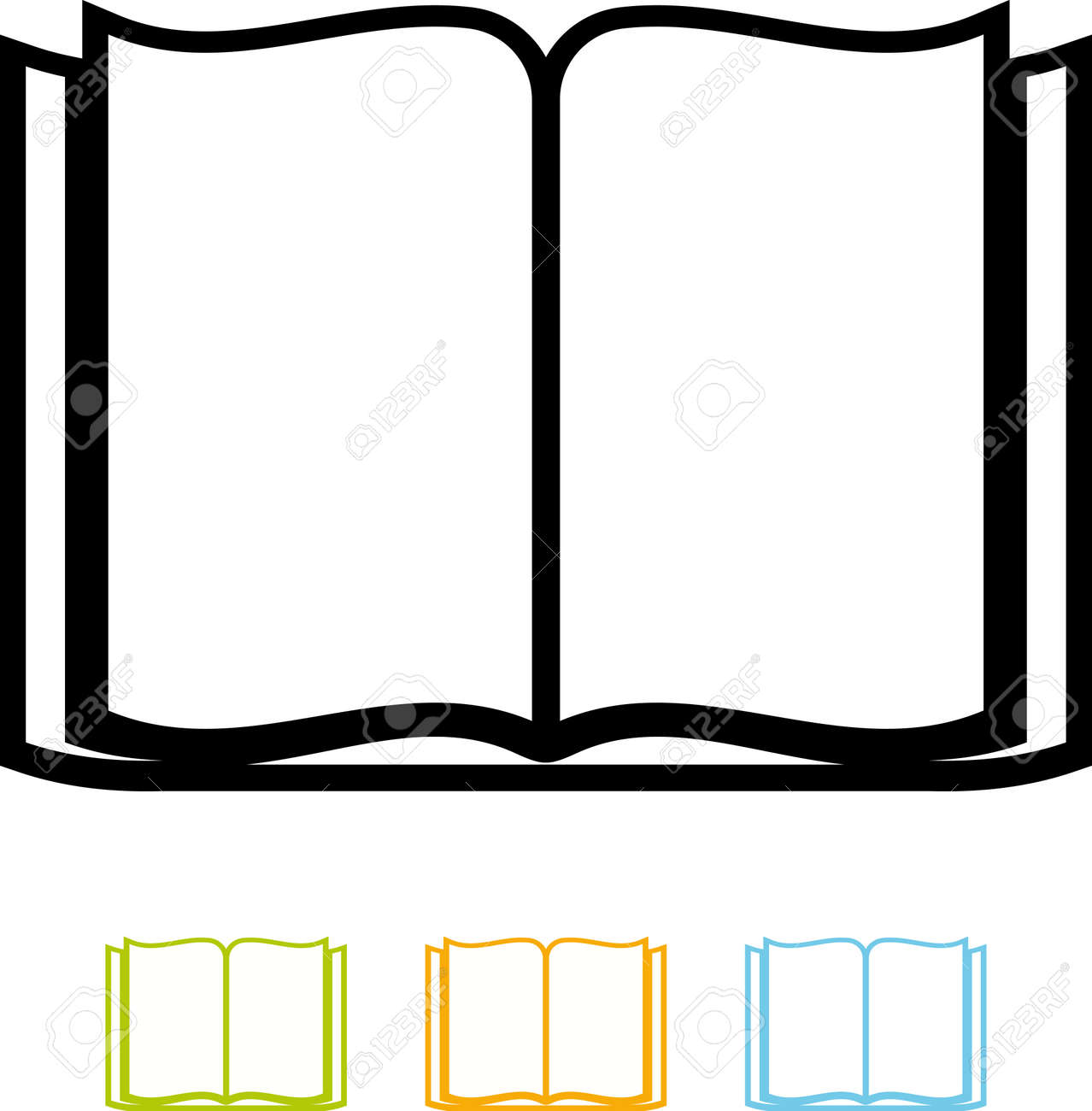 open blank book vector isolated royalty free cliparts vectors and rh 123rf com book vector free download book vector png