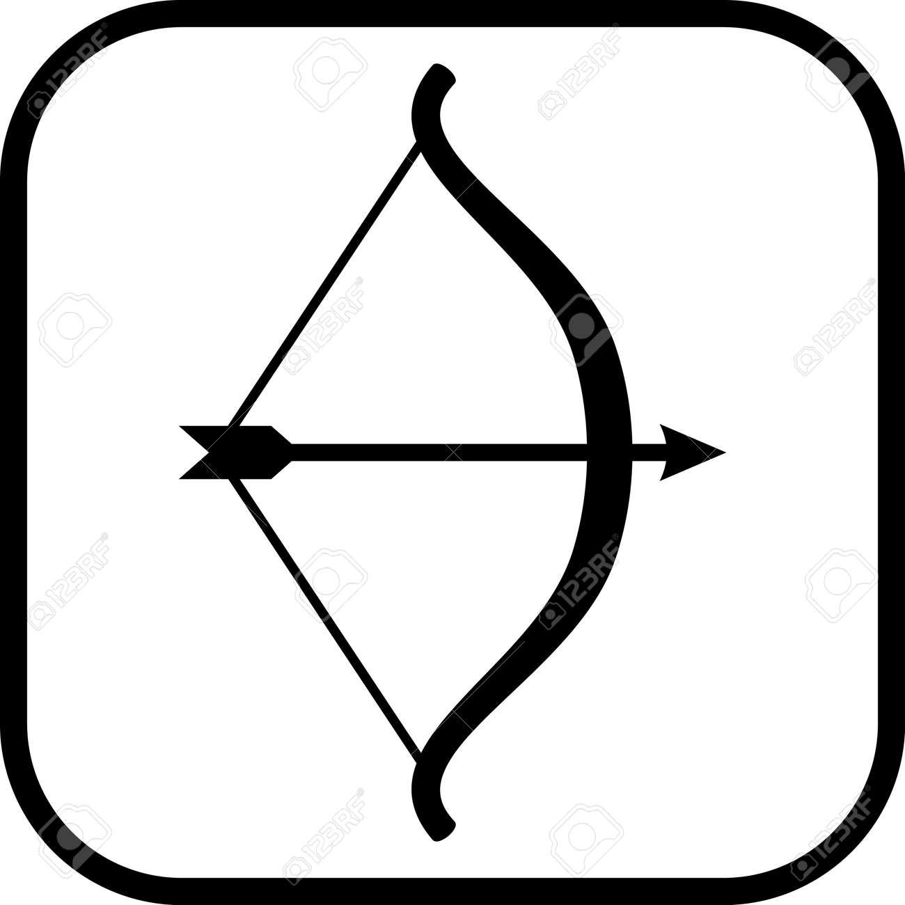 bow and arrow vector icon isolated royalty free cliparts vectors rh 123rf com bow and arrow silhouette vector bow and arrow vector images