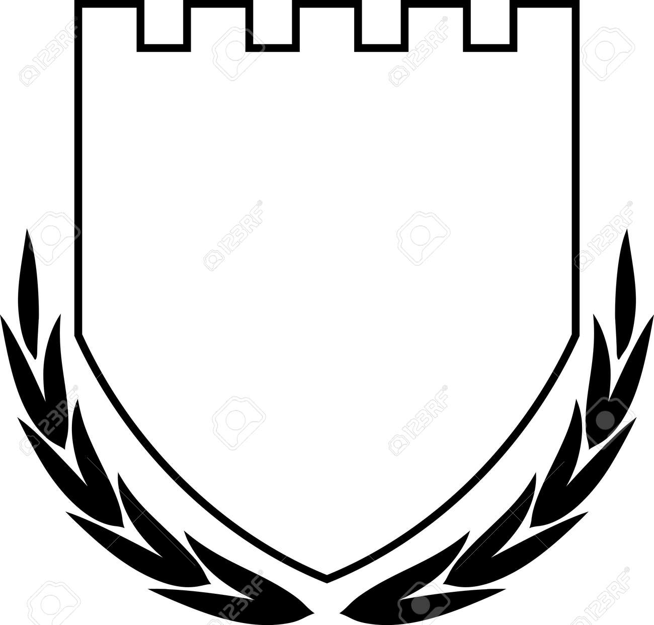 vector coat of arms shield and laurel wreath isolated royalty free rh 123rf com coat of arms vector free download coat of arms vector art