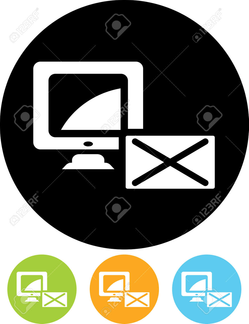 new email message alert vector icon stock vector 53139345