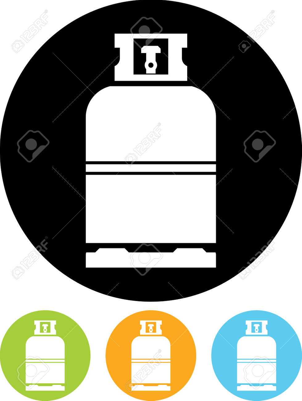 Gas bottle vector icon - 52948025