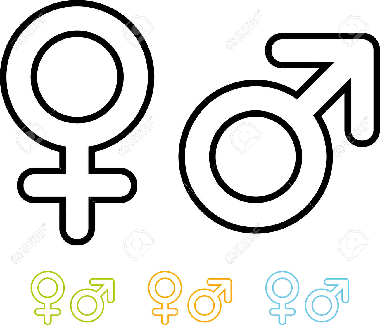 Male And Female Gender Symbols Vector Icons Royalty Free Cliparts