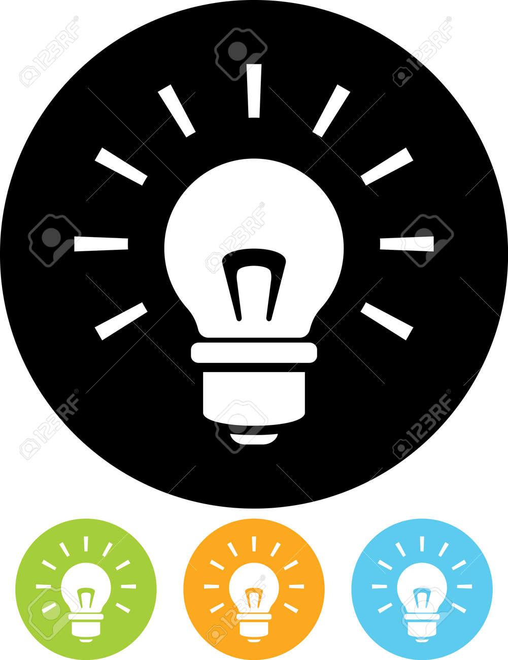 Shining lightbulb - Vector icon - 52953880