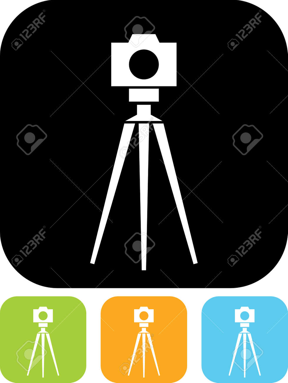 tripod photo camera vector icon royalty free cliparts vectors and rh 123rf com camera flat icon vector camera vector icon psd