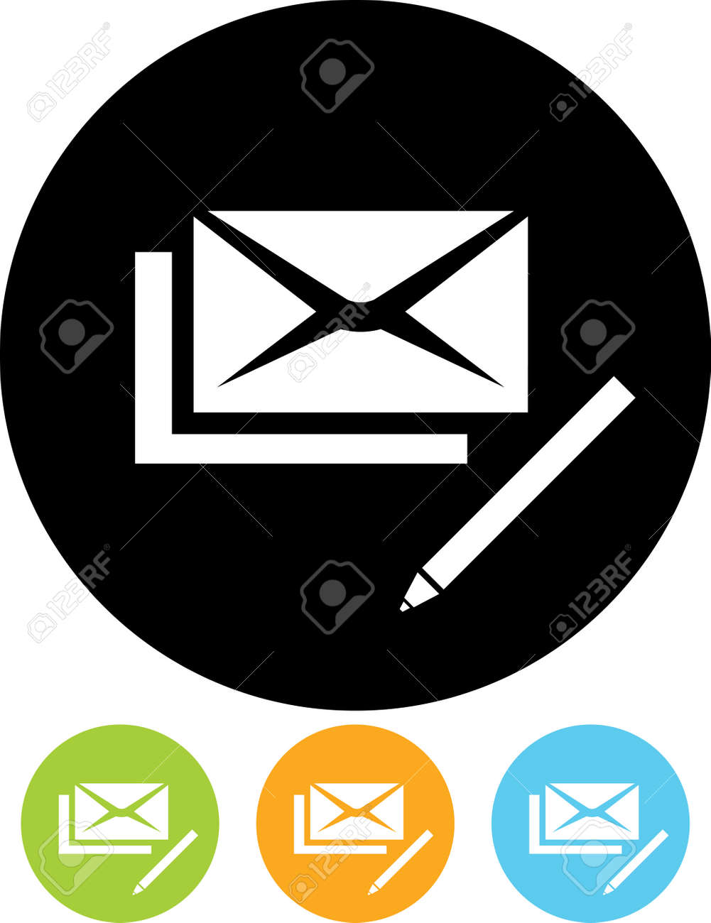 Vector Mail Correspondence Write Us Icon Royalty Free Cliparts