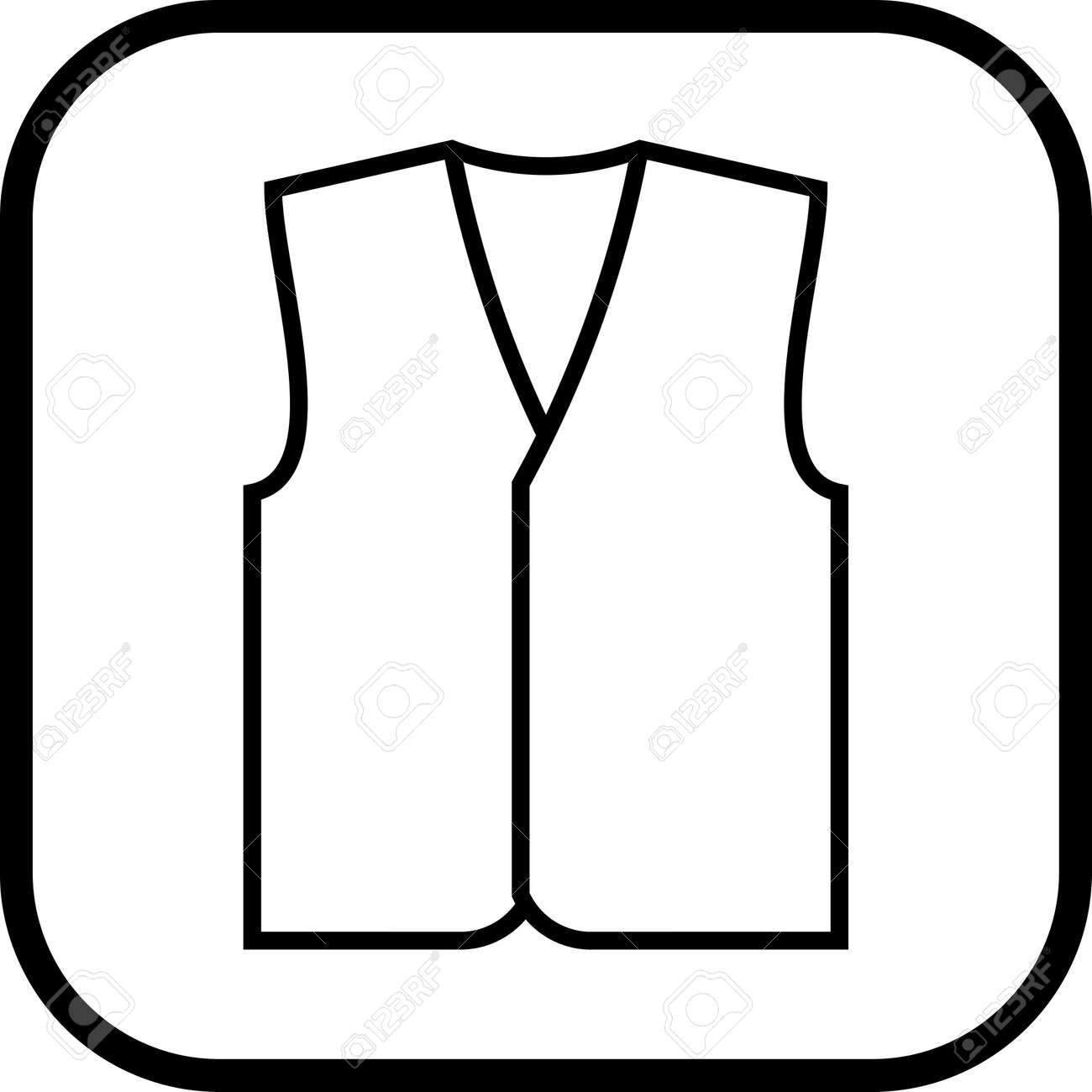 Vest vector icon - 52956170