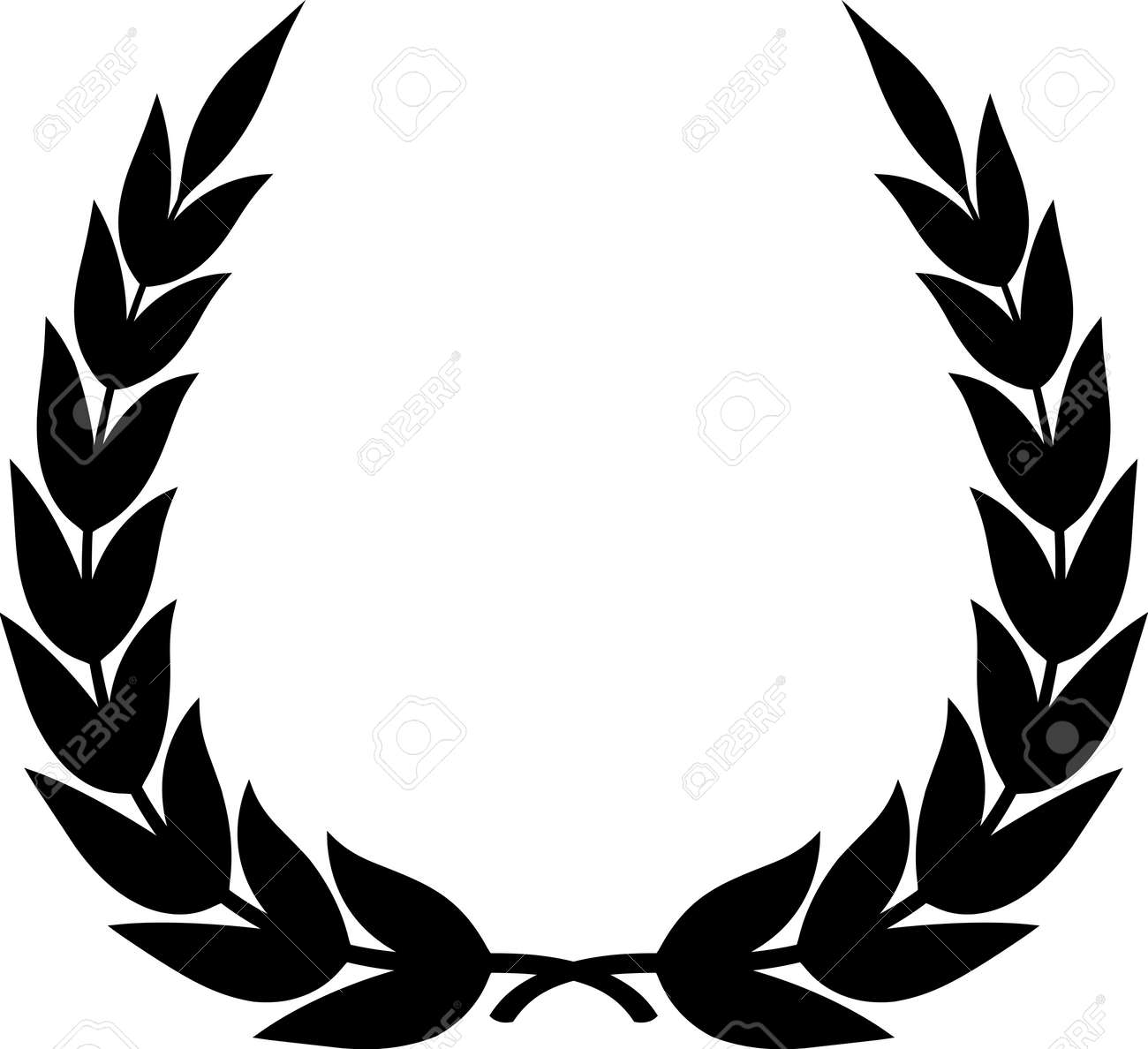 vector laurel wreath isolated royalty free cliparts vectors and rh 123rf com 22 laurel wreath clipart png white laurel wreath clipart