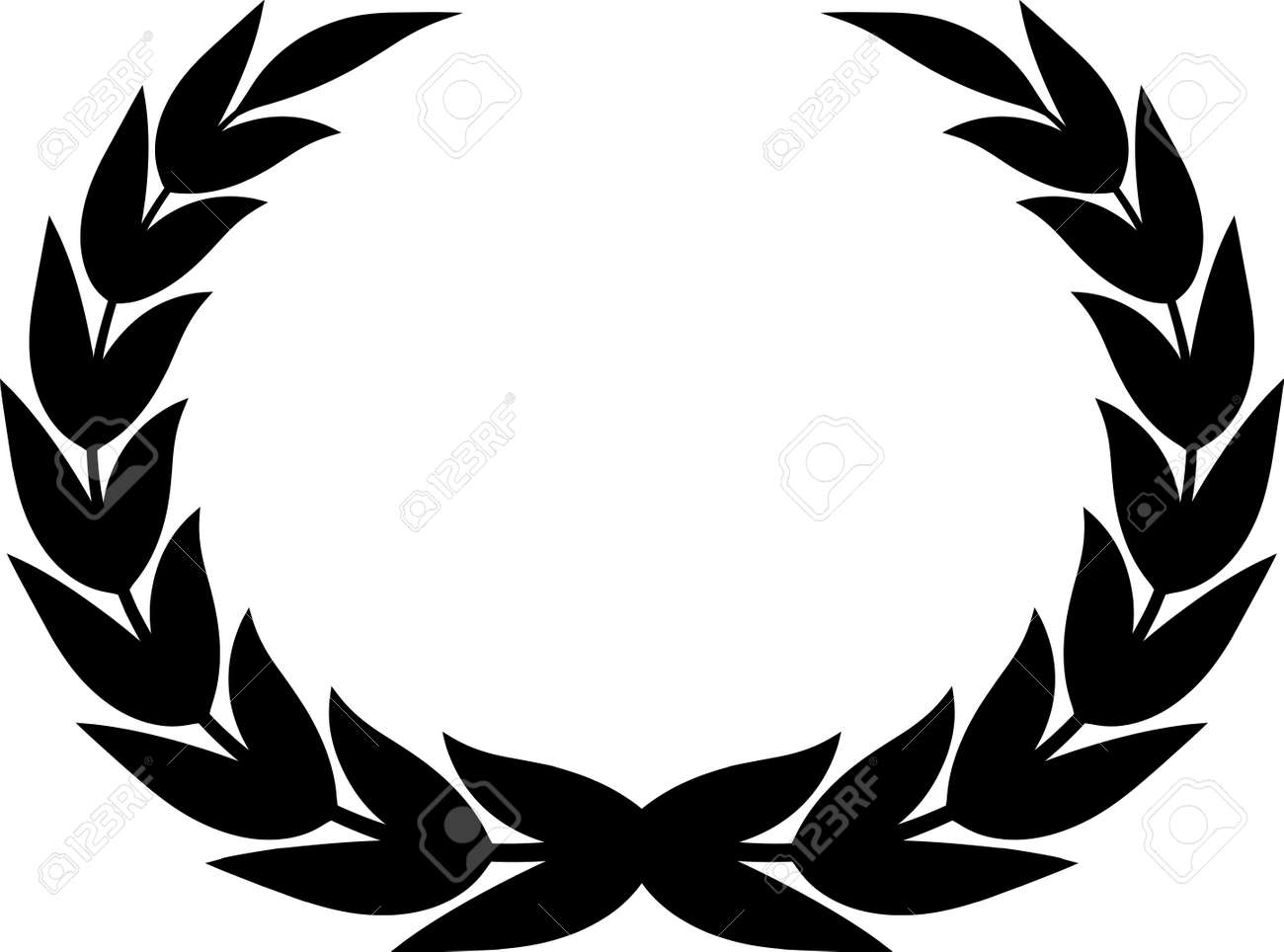laurel wreath clipart drawing isolated royalty free cliparts rh 123rf com wreath clip art free black and white wreath clipart black and white