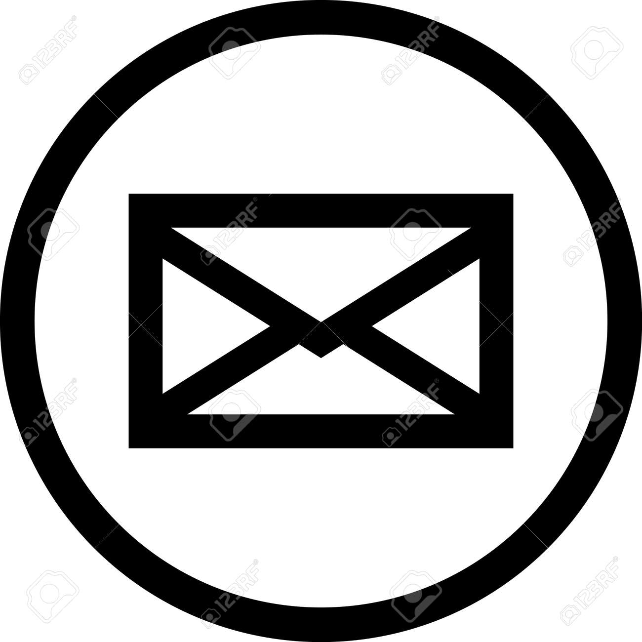 mail message vector icon isolated royalty free cliparts vectors