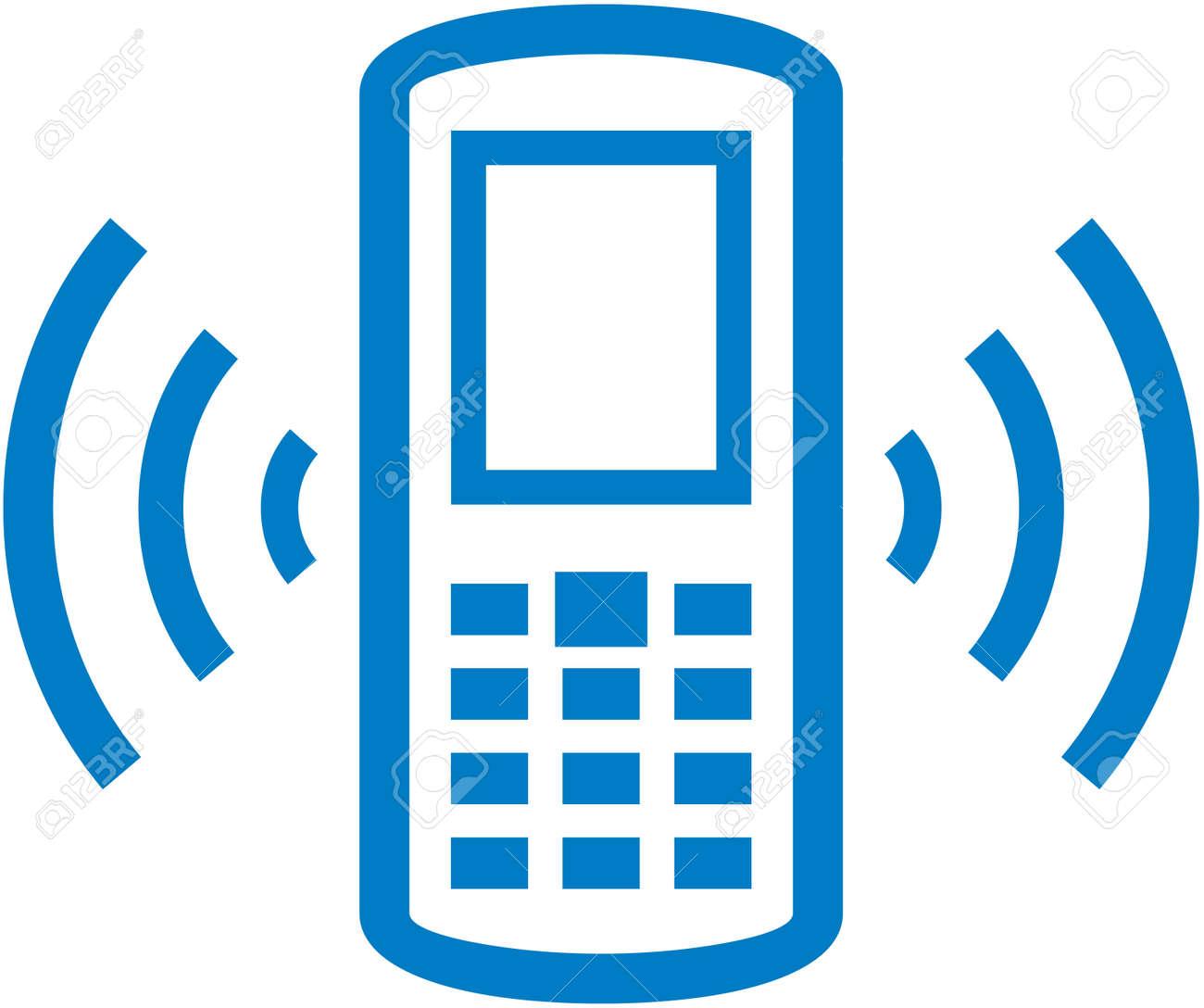 ベクトル鳴る携帯電話のイラスト ロイヤリティフリークリップアート