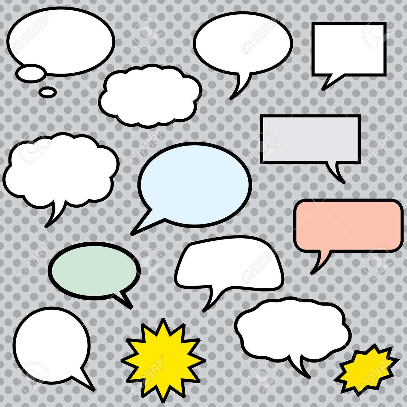 Vector comics speech bubbles illustration - 53564593