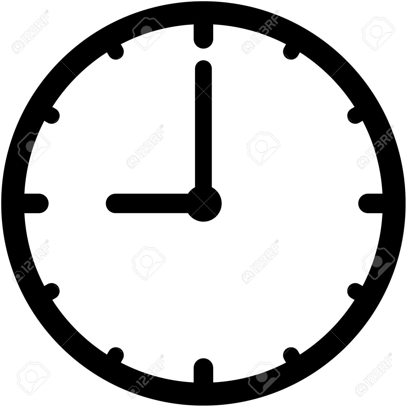 vector clock icon isolated royalty free cliparts vectors and stock rh 123rf com clock icon vector free download clock icon vector free download