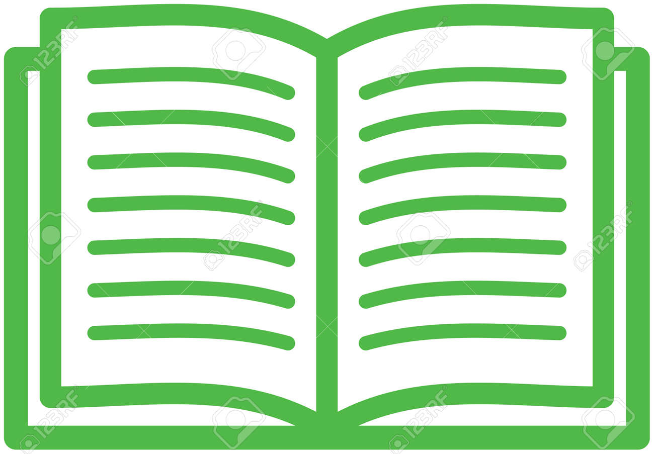 Open book vector isolated - 53139240