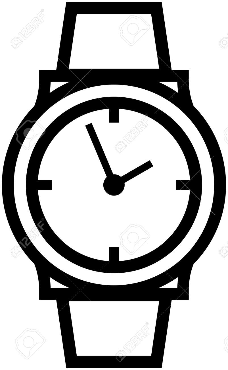 watch wristwatch vector icon royalty free cliparts vectors and rh 123rf com vector watch update vector watch app