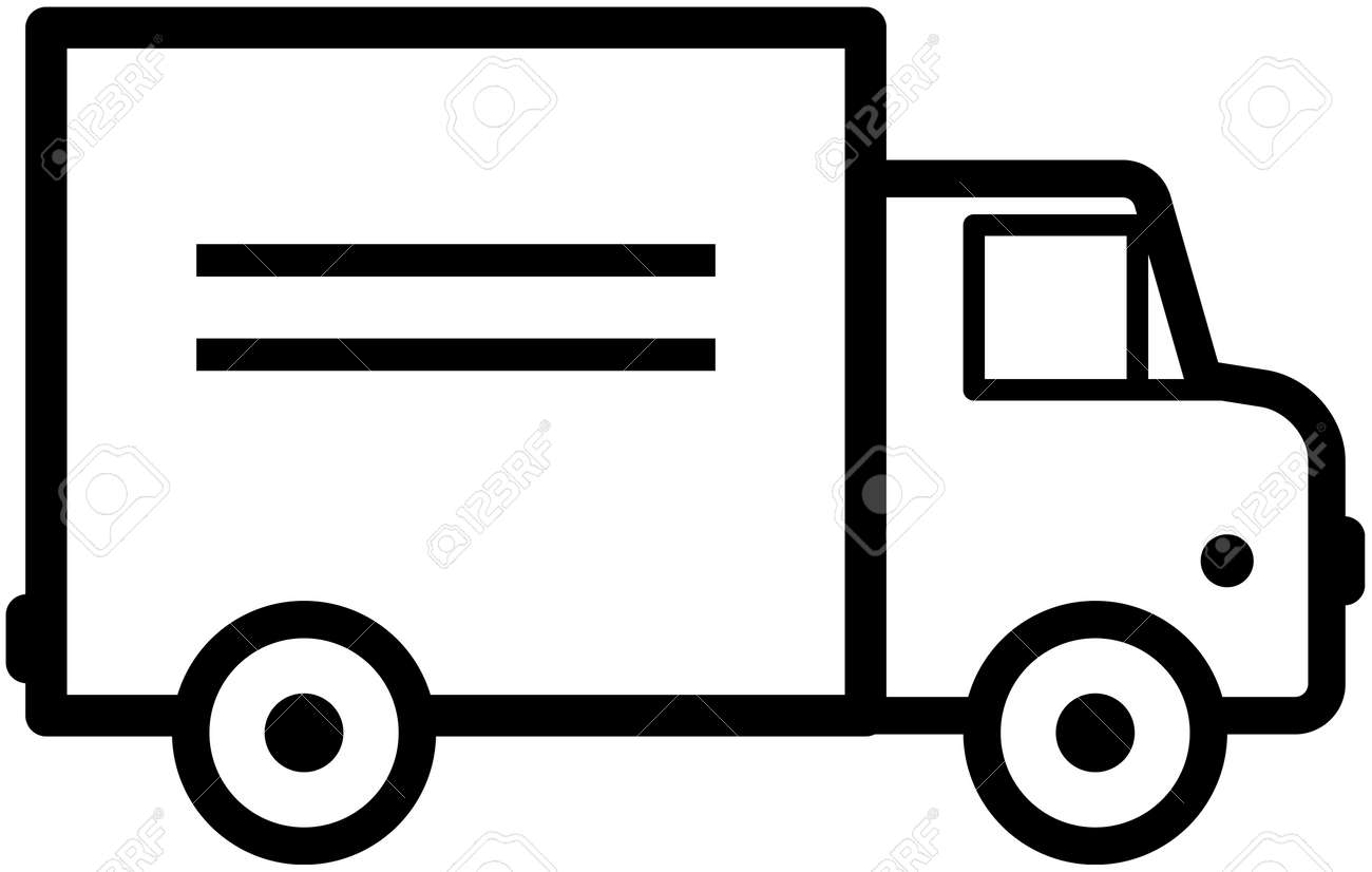 delivery truck vector icon royalty free cliparts vectors and stock