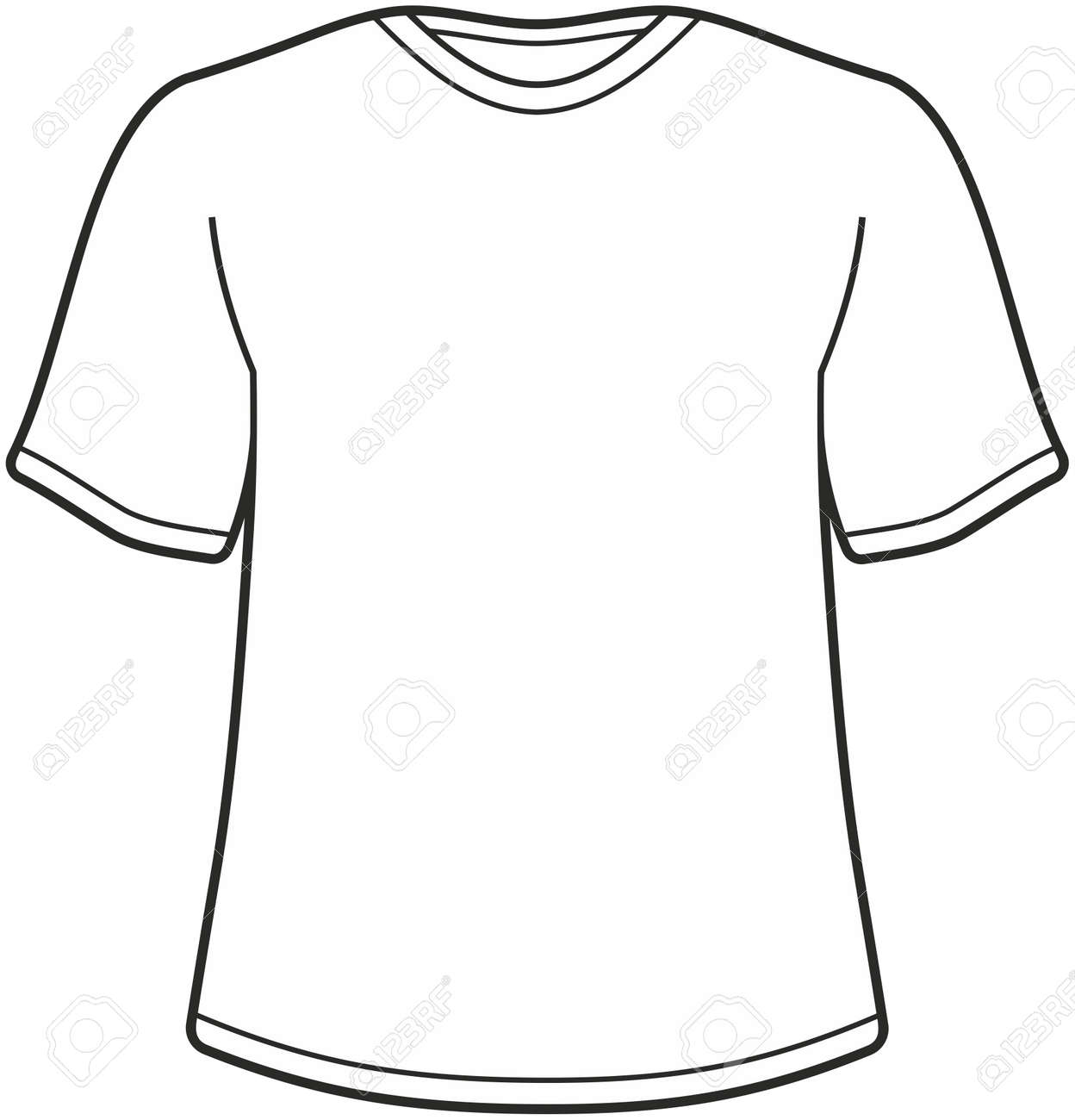 Blank T-shirt Tee Template Vector Isolated Royalty Free Cliparts ...