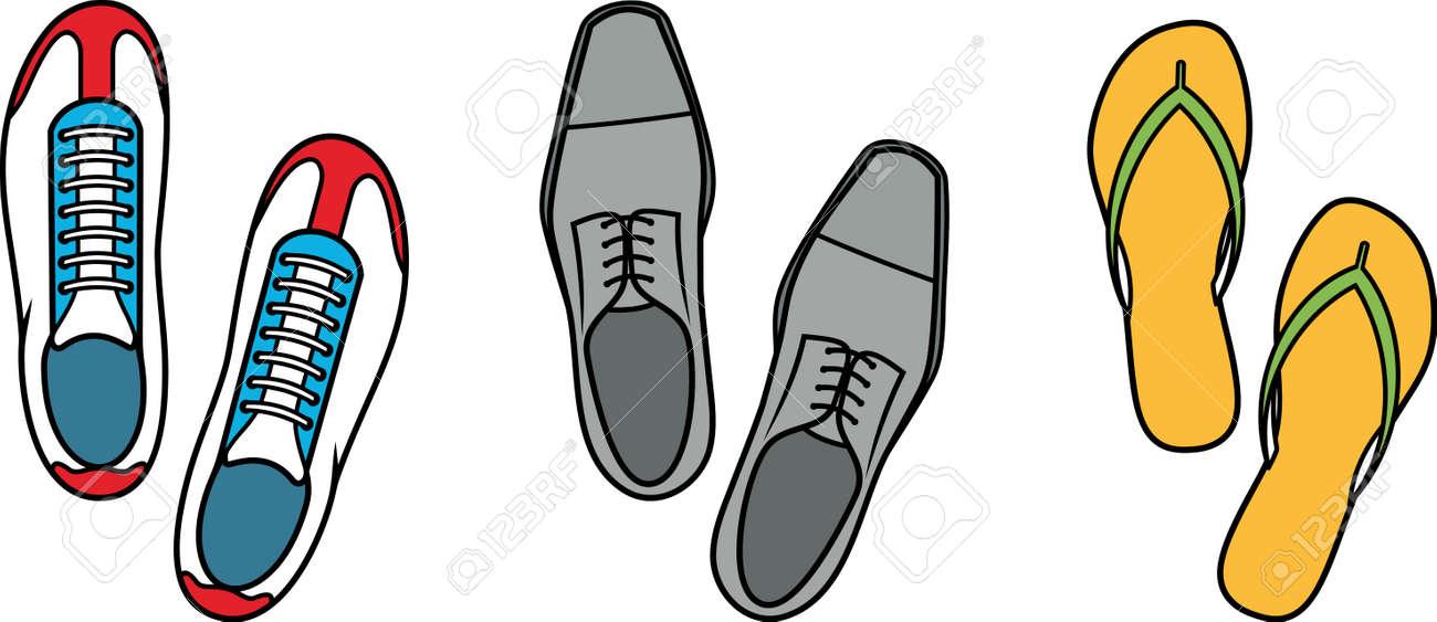 De Vectorial Ilustración Calzado Formales Deporte Casuales Zapatillas Deportivo xQsdrthC