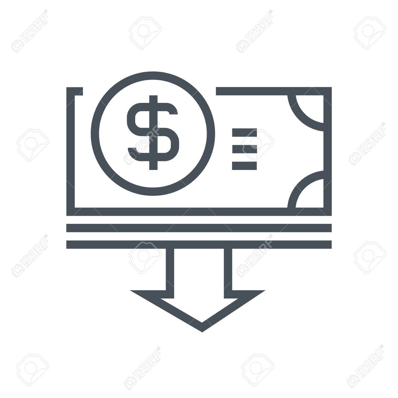 budget cuts icon suitable for info graphics websites and print