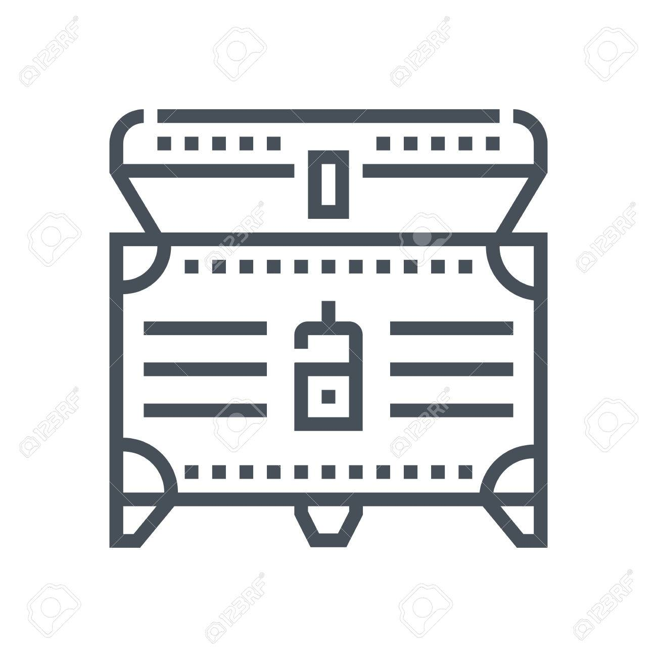 Treasure icon suitable for info graphics, websites and print