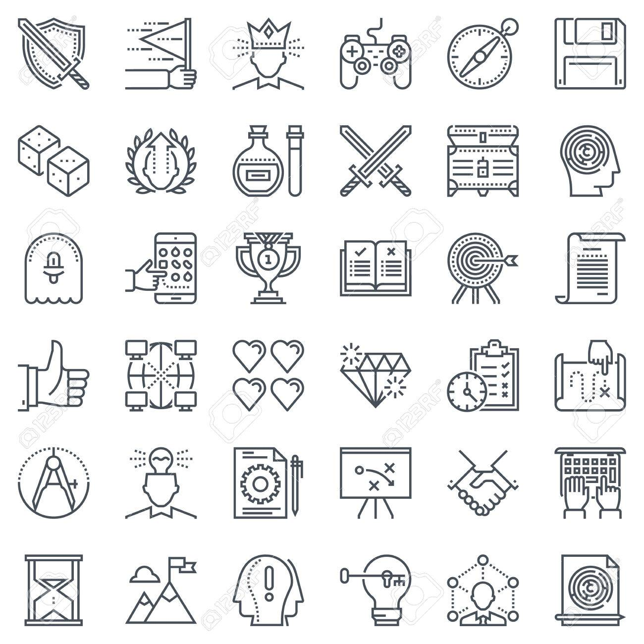 Game Design Icon Set Suitable For Info Graphics Websites And - Game design websites