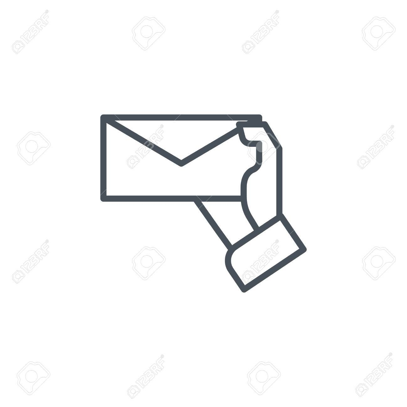 hand holding letter icon suitable for info graphics websites