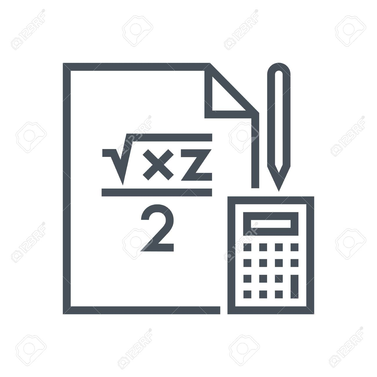 Mathematics Lesson Icon Suitable For Info Graphics, Websites ...