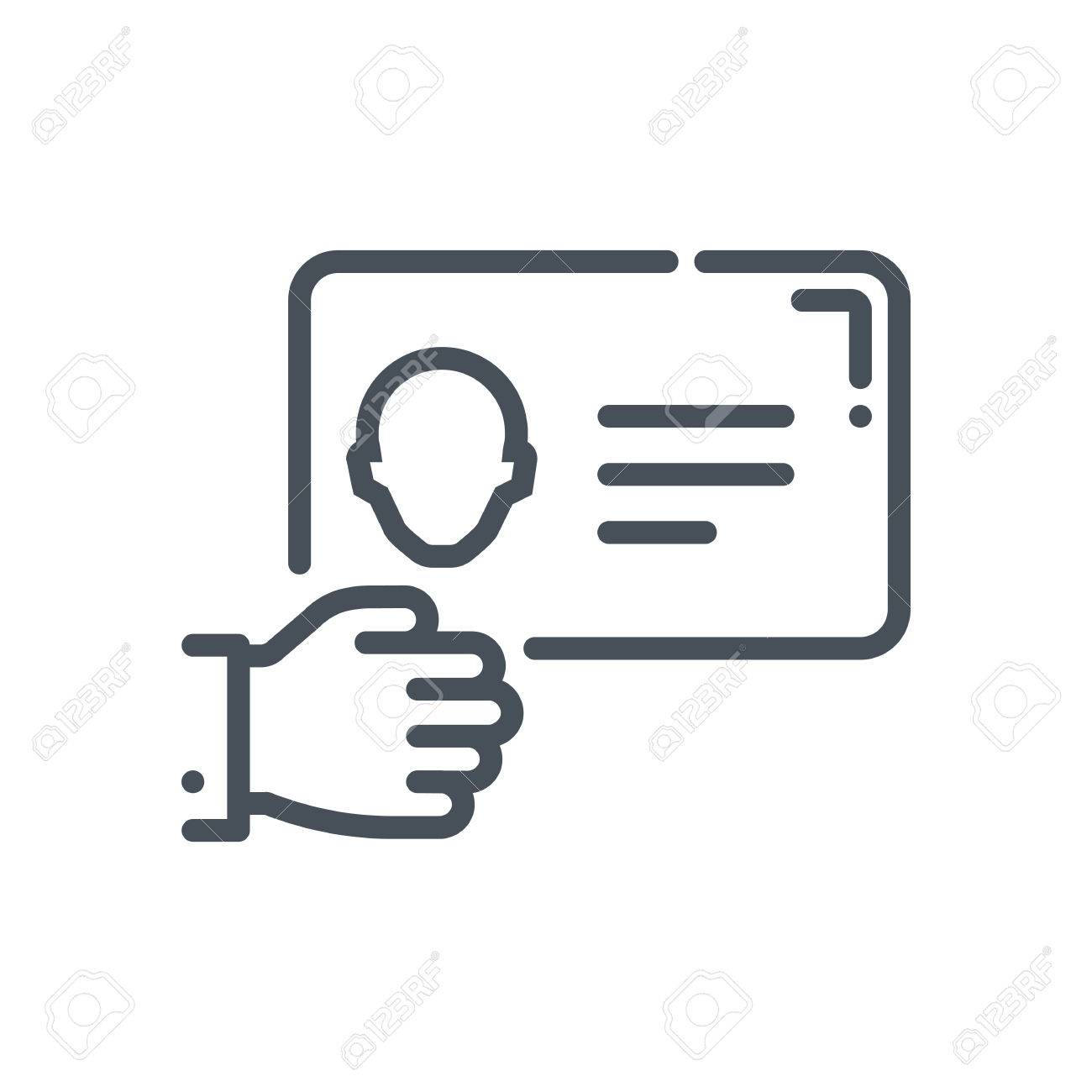 Business card icon suitable for info graphics websites and print business card icon suitable for info graphics websites and print media and interfaces hand colourmoves