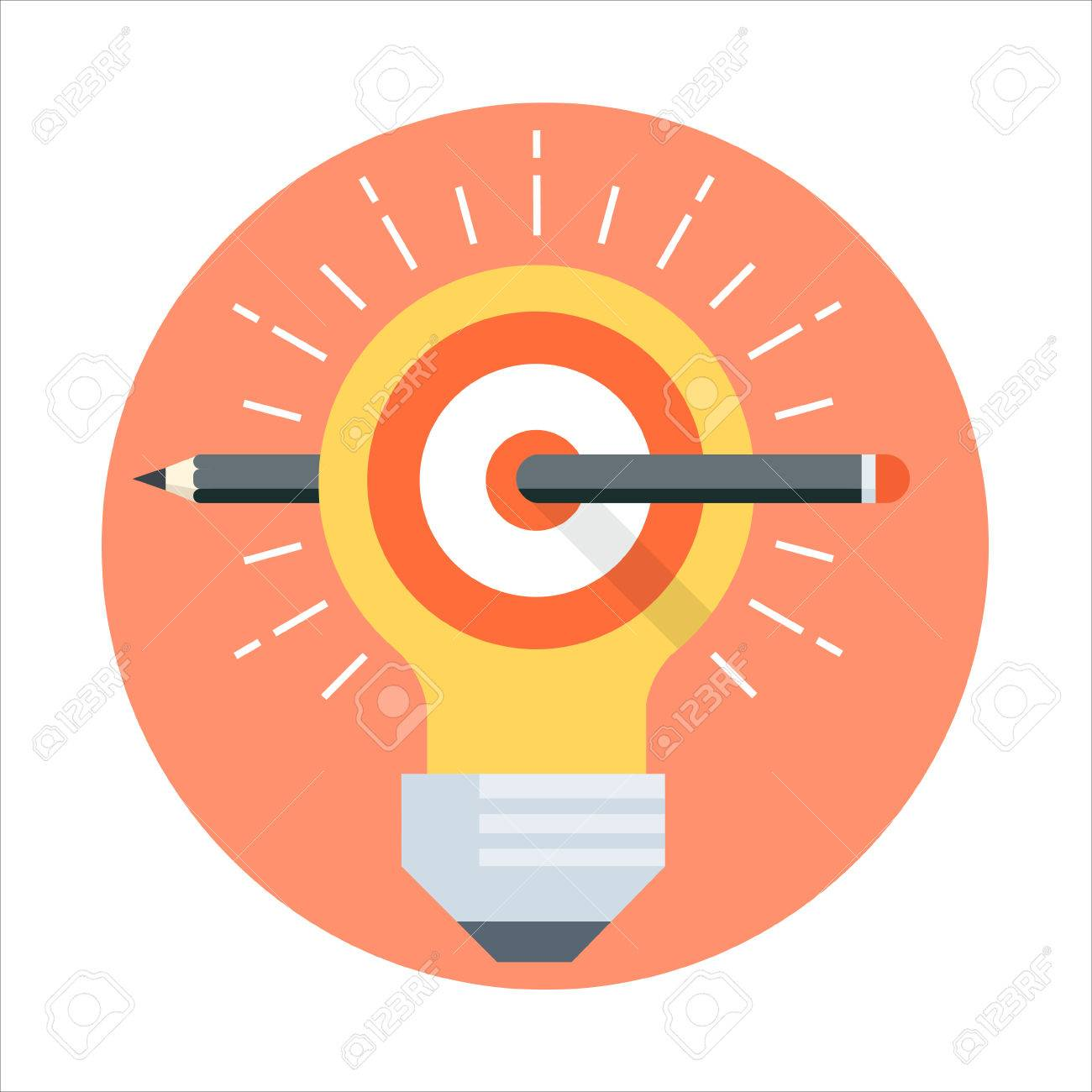 Define goal theme, flat style, colorful, vector icon for info graphics, websites, mobile and print media. - 55935924