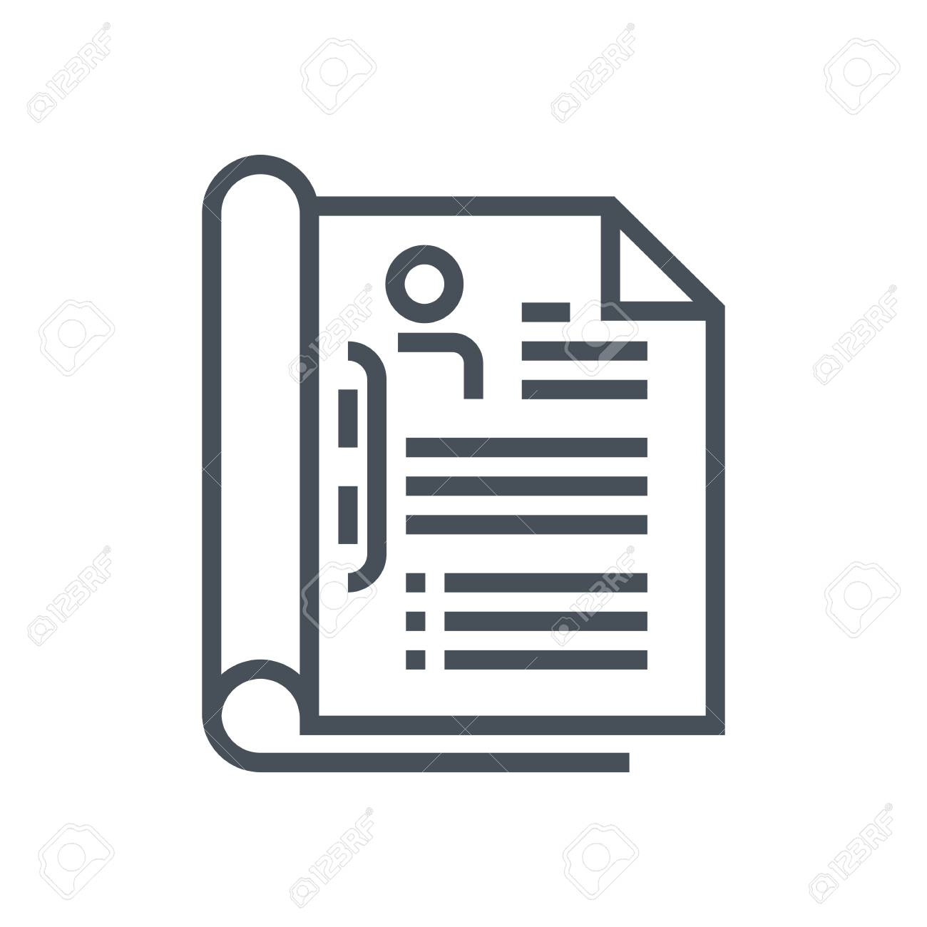 Reanudar El Icono Adecuado Para La Información De Gráficos, Páginas ...