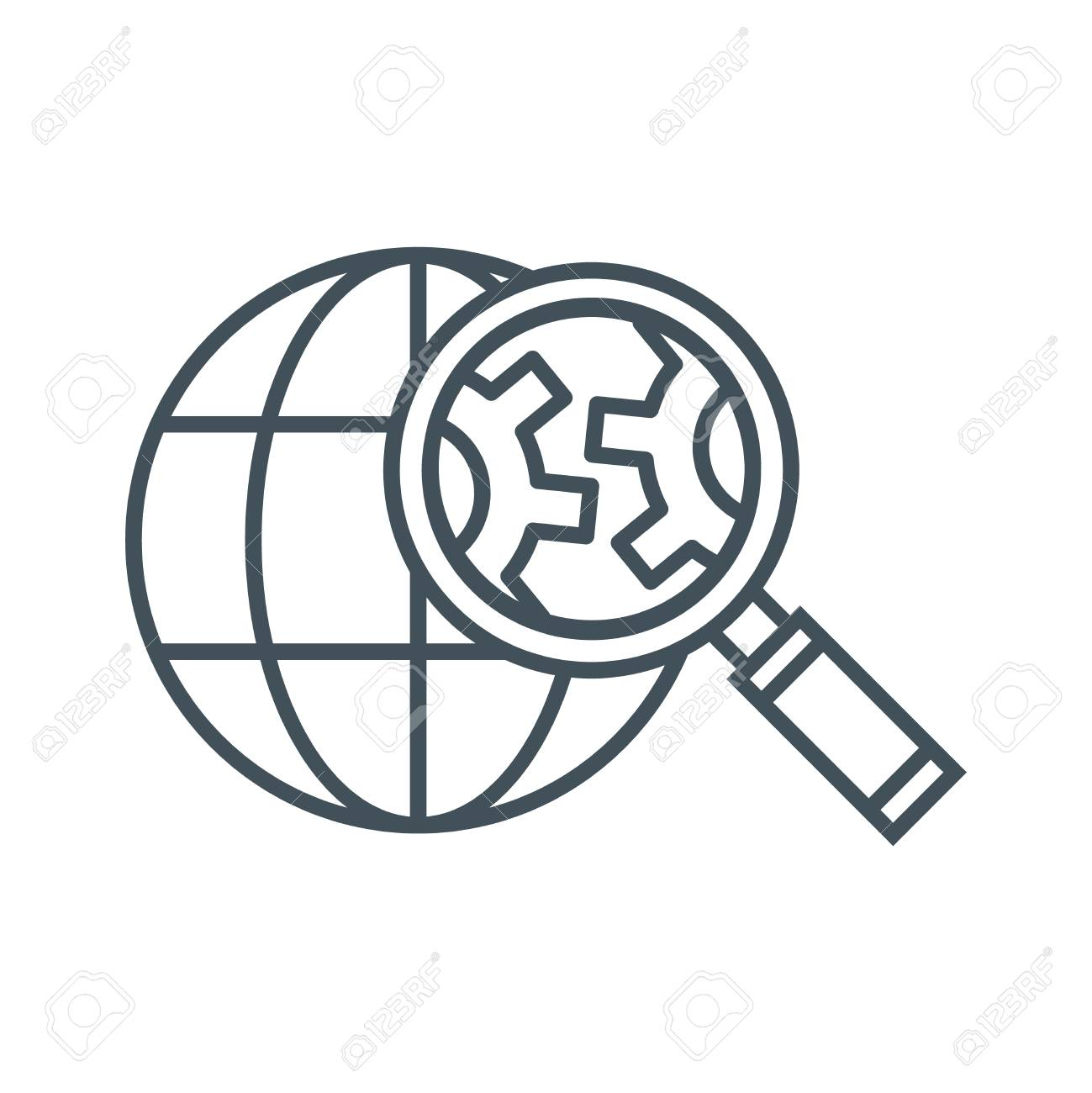 Search engine optimization icon suitable for info graphics, websites