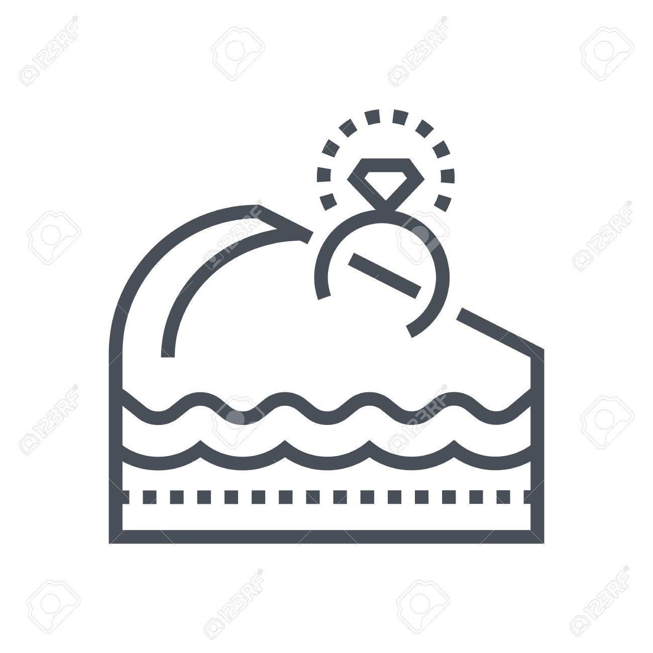 Verlobungsring Kuchen Symbol Geeignet Für Info Grafiken Websites