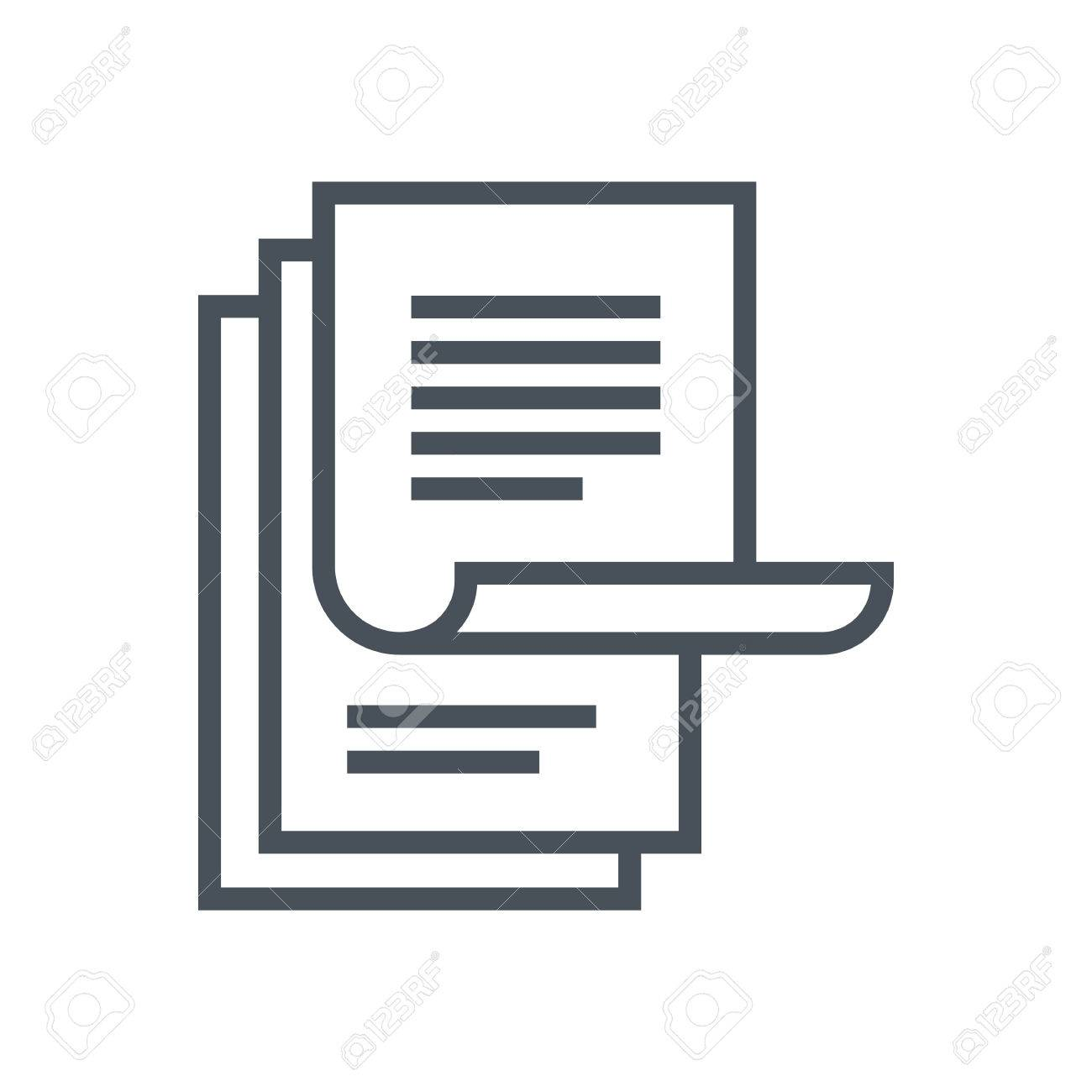 Paperwork icon suitable for info graphics, websites and print media and interfaces. Line vector icon. - 55936756