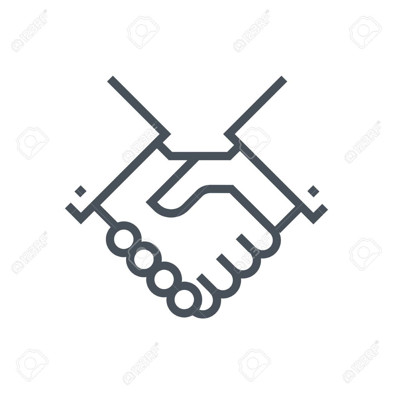 Hand shake icon, customer service icon suitable for info graphics,