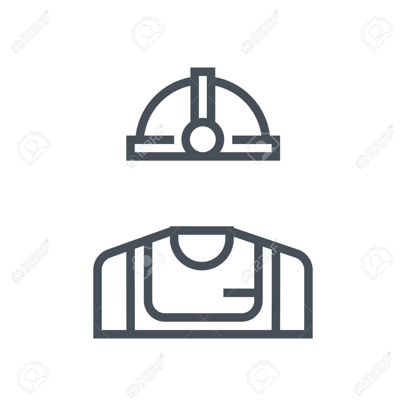 Industry worker icon suitable for info graphics, websites and print media and interfaces. Line vector icon. - 55945007