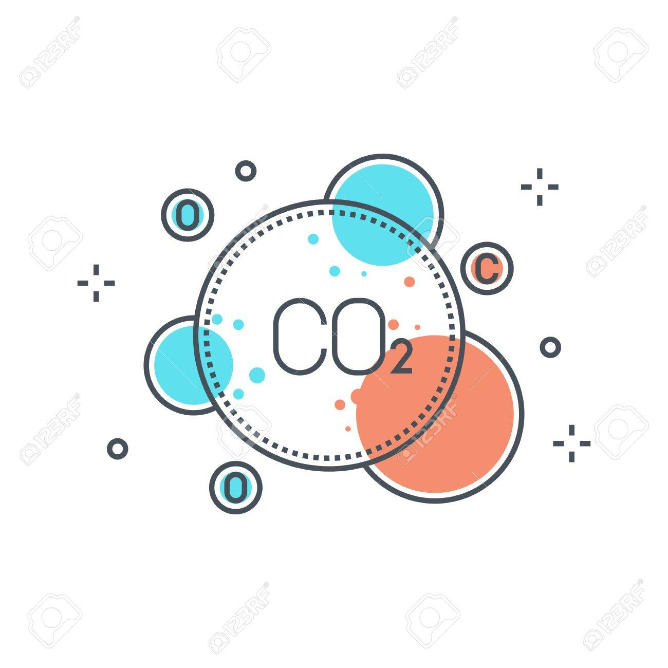 Color line, pollution concept illustration, icon, background and graphics. The illustration is colorful, flat, vector, pixel perfect, suitable for web and print. It is linear stokes and fills. - 69210112