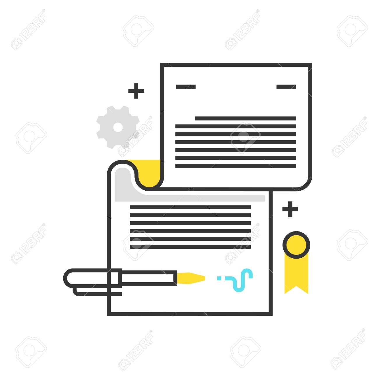 Color Box Icon Legal Documents Concept Illustration Background And Graphics The