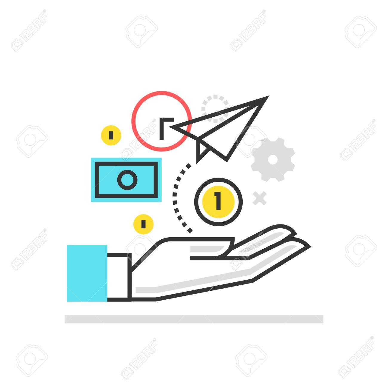 カラー ボックスのアイコン、ビジネス アイデアのイラスト、アイコン