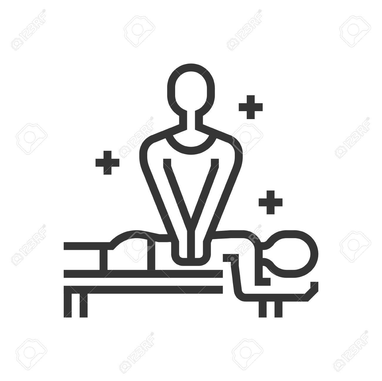 Surprising Body Massage Icon Part Of The Square Icons Beauty Salon Icon Home Interior And Landscaping Eliaenasavecom