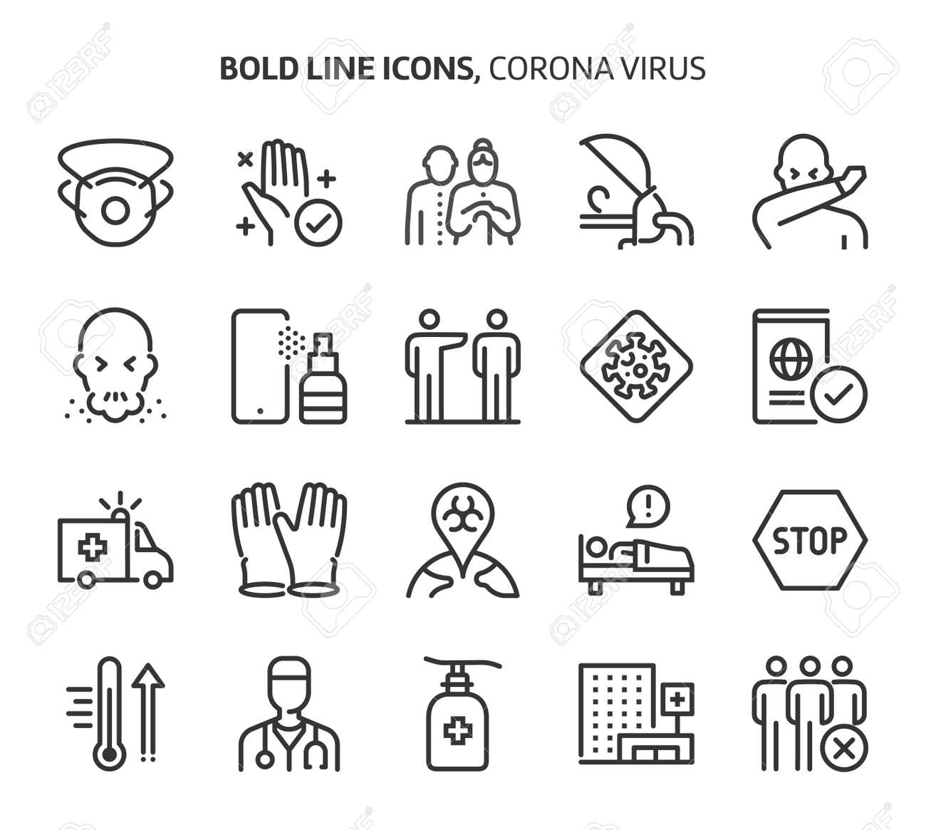 Bold line icons. The illustrations are a vector, editable stroke, 48x48 pixel perfect files. Crafted with precision and eye for quality. - 163697761