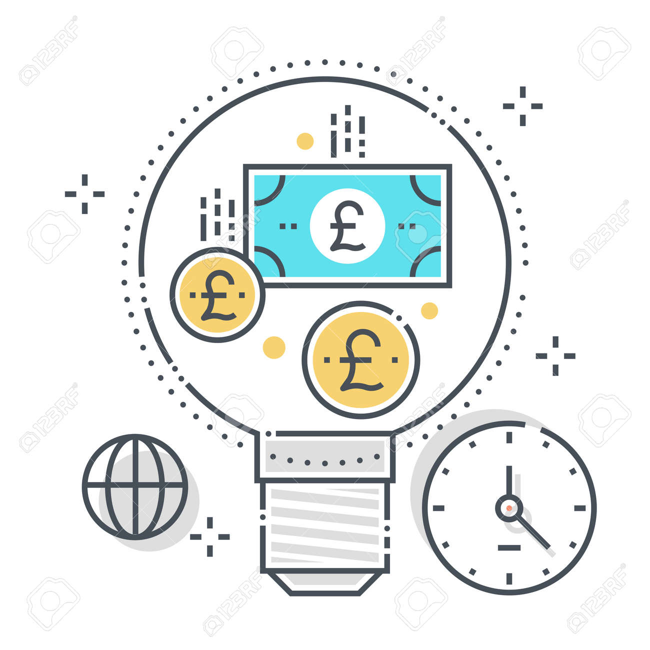 Currency exchange related color line vector icon, illustration. The icon is about coin, conversion, currency, dollar, finance, money, scale. The composition is infinitely scalable. - 163695977