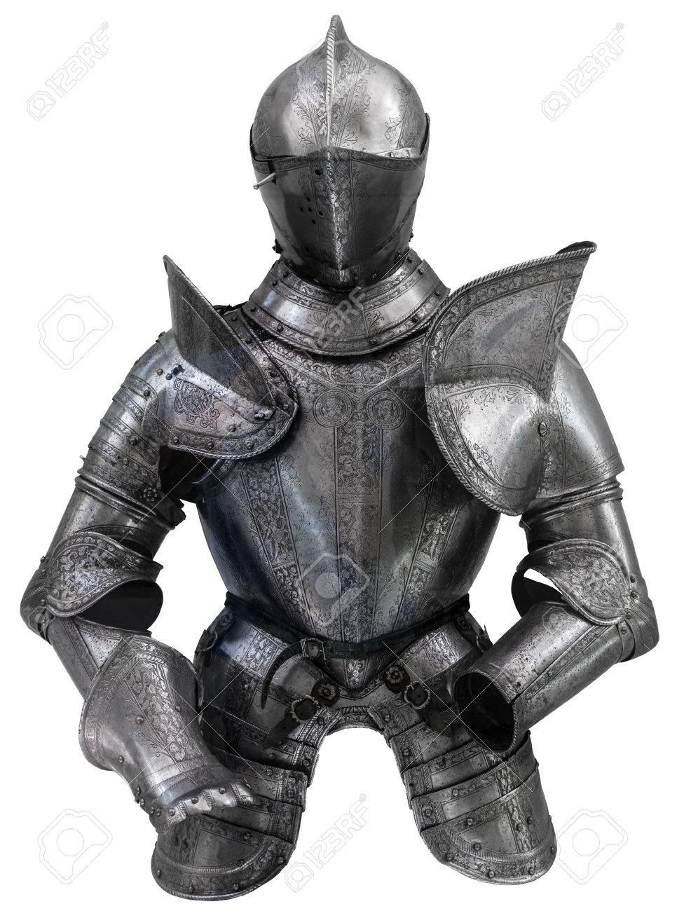 アーマー (鎧) をヘルメットの中世ヨーロッパのスーツを分離 の写真 ...