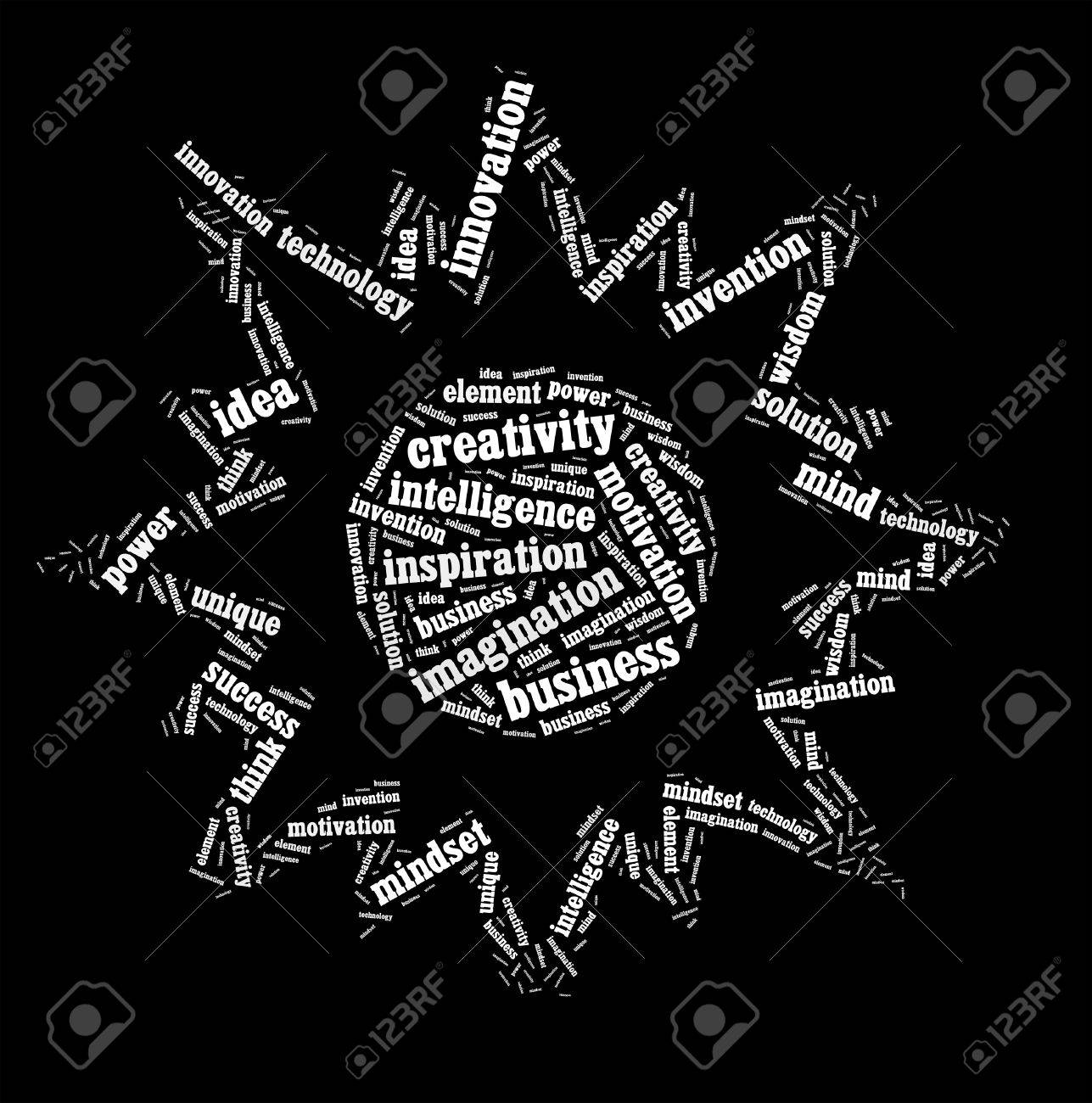 Creative thinking text cloud collage Stock Photo - 15875170
