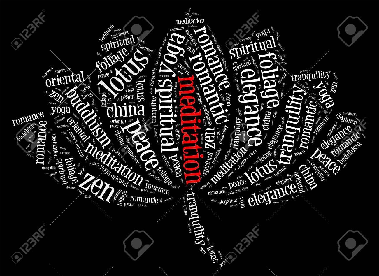 Meditation and spiritual world info text graphics and arrangement meditation and spiritual world info text graphics and arrangement with lotus flower shape concept stock mightylinksfo