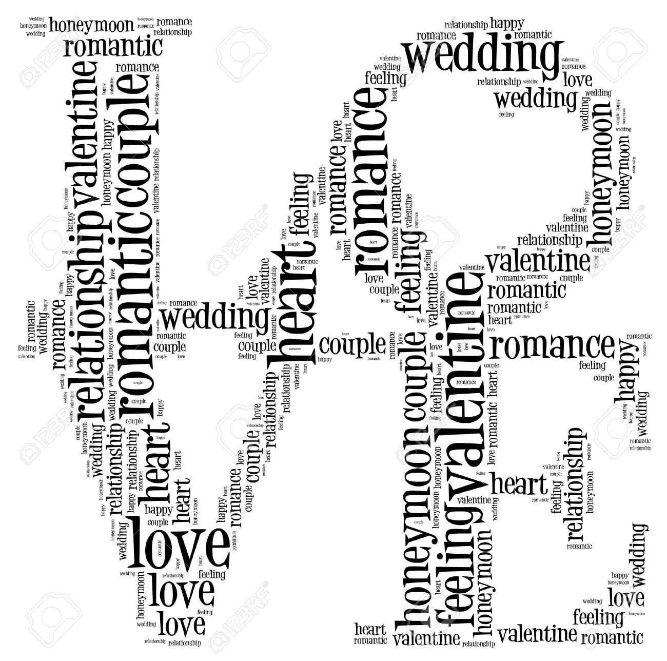 love info text cloud and arrangement collage stock photo picture