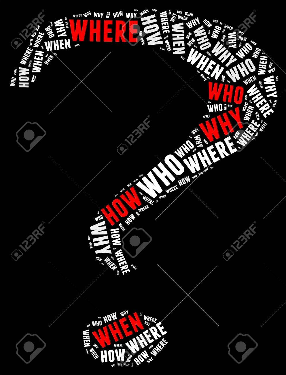 Question info text graphic and arrangement concept with question mark shape Stock Photo - 15874866
