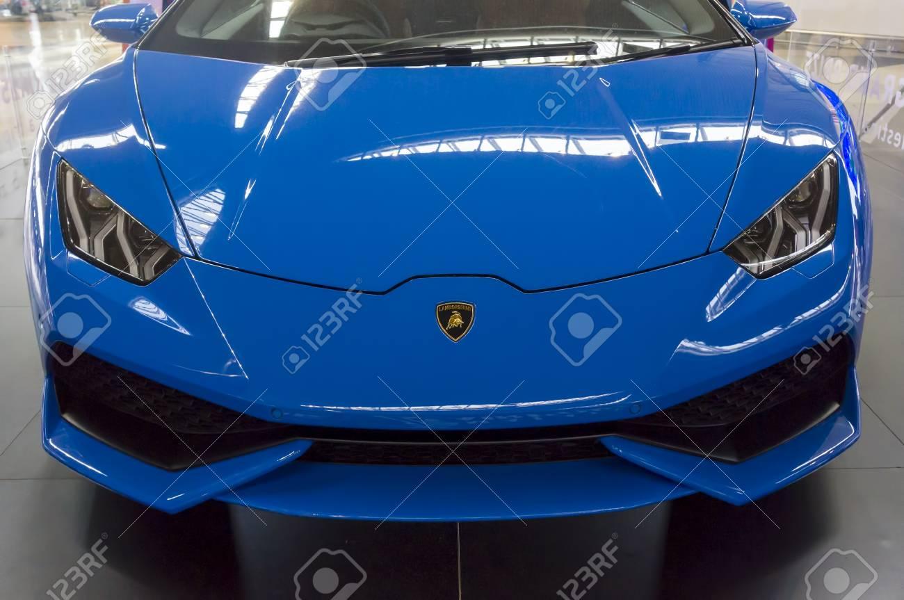 Kuala Lumpur Malaysia Sept 10 2017 Front View Of Lamborghini