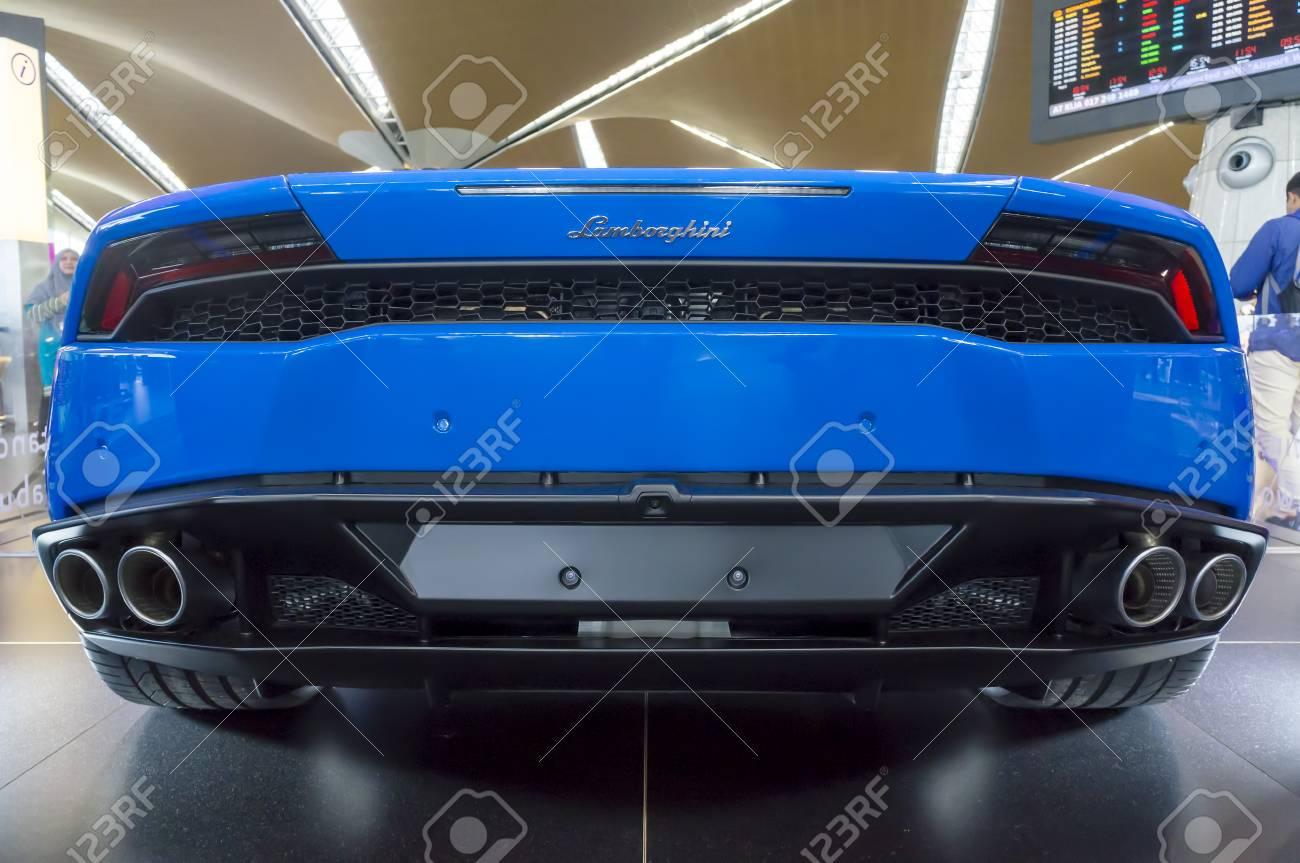 Kuala Lumpur Malaysia Sept 10 2017 Rear View Of Lamborghini